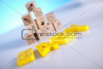 Baby blocks set