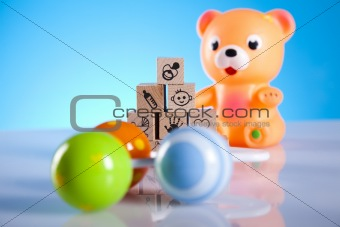 Baby toys and bear
