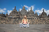 Meditation at Borobudur temple 