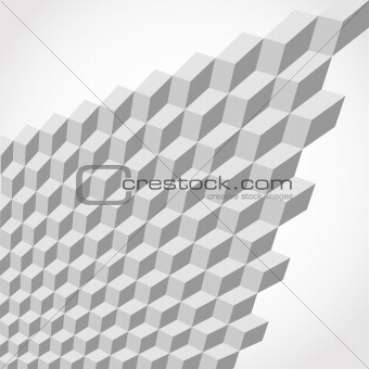 abstract metallic cubes as background 3d