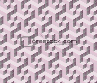 abstract seamless pink 3d isometric cube seamless pattern