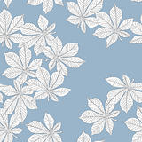 Chestnut leaves. Seamless pattern.