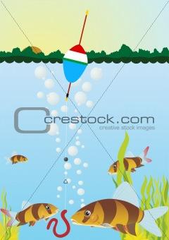 Fishing on the lake