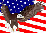 U.S. Flag and Eagle