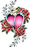 gorgeous heart fancy tattoo