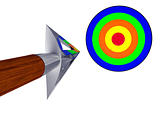Shiny arrow flying to the target
