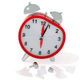 Crashed alarm clock