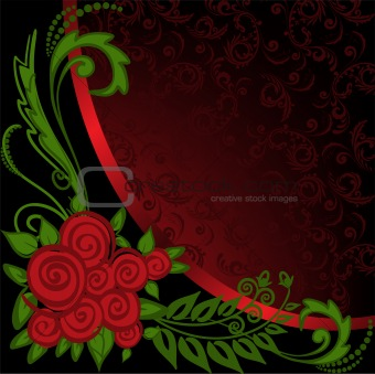 Asymmetrical black and red background