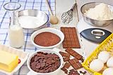 baking chocolate muffins