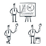 Vector illustration of a simple sketch characters for use in presentations, manuals, design, etc.