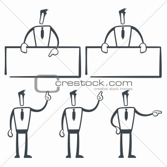 set of funny cartoon builder in various poses for use in presentations, etc.