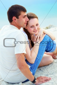 Couple on sand