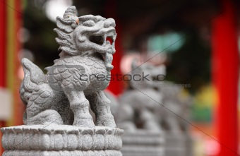 Chinese lion statue