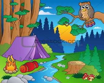 Cartoon forest landscape 5