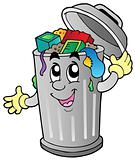 Cartoon trash can