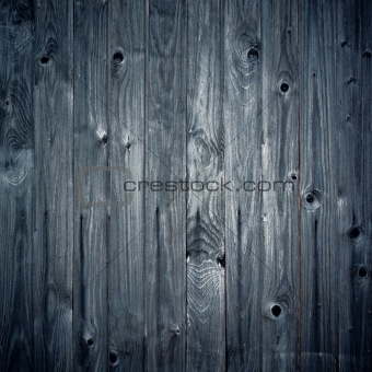 Vintage blue wooden background, square composition.