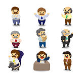 cartoon boss and Manager icon set