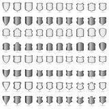 Vector set Heraldic shields banners