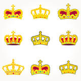 Vector set Heraldic symbols crowns
