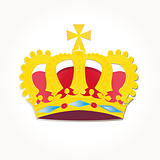 Vector set Heraldic symbols crowns