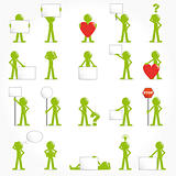 People vector 3D icon set concept illustration