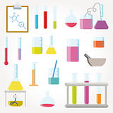 Chemical test tubes icons illustration vector