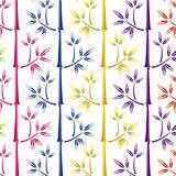 vector illustration of colorful bamboo background
