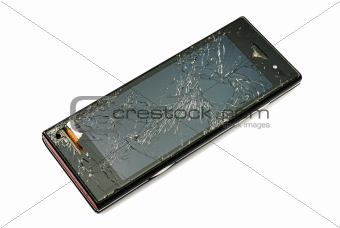 Damaged smart phone