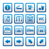 Set pictograms. Car services. Gas station. Symbols Roadside services.