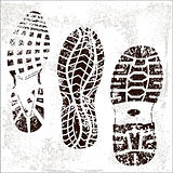 Grunge Shoe Tracks trio