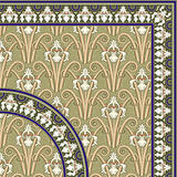 Classical floral pattern and Frame