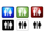 vector illustration of Women&#39;s and Men&#39;s Toilets 