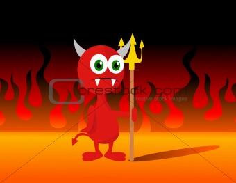 Little Devil Vector Illustration