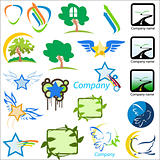 set of logos nature vector illustration