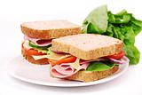 Healthy ham sandwich 