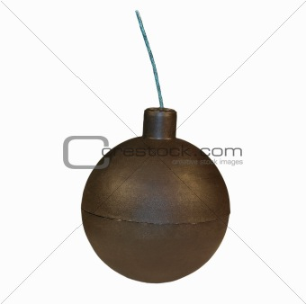 ball firecracker isolated on white background