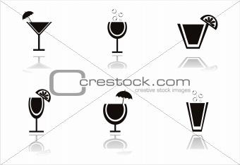 black cocktails icons