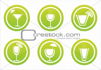 green cocktails signs