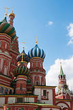 St. Basil&#39;s Cathedral in Moscow on red square