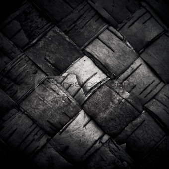 Texture of woven birch bark (the traditional Russian plaiting ba
