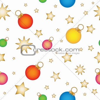 Baubles and stars - seamless tiling texture