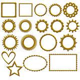 Golden frame or label collection