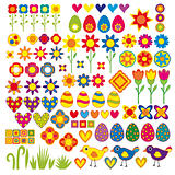 Colorful nature symbols collection