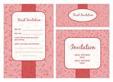 Wedding invitation template. Set of ornate vector frames