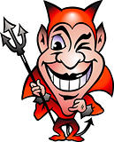Hand-drawn Vector illustration of an Red Devil