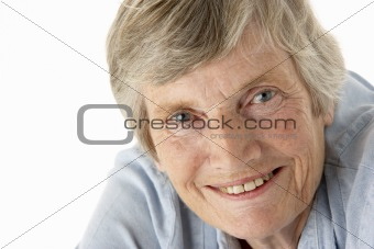 Portrait of senior woman smiling at the camera