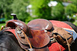 Horse saddle detail