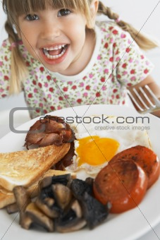 Toddler Eating Unhealthy Breakfast