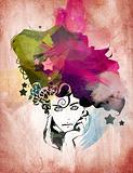Watercolor Girl Illustration
