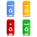 Recycling trash containers